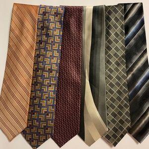 Men's Silk Ties LOT 6 total - Cardin, Perry Ellis